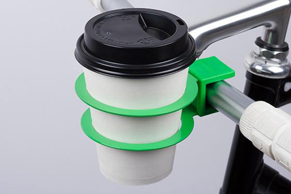 Bookman Cup Holder laat je koffie drinken op de fiets