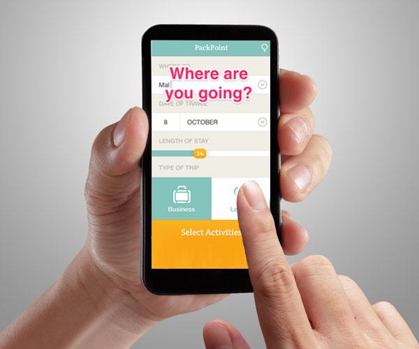 Met de gratis PackPoint app heb je op vakantie altijd alles bij je