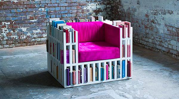 Bibliochaise: stoel en boekenkast in één