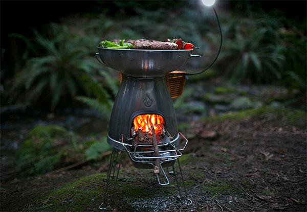 BioLite BaseCamp Stove: koken en tegelijkertijd elektriciteit opwekken