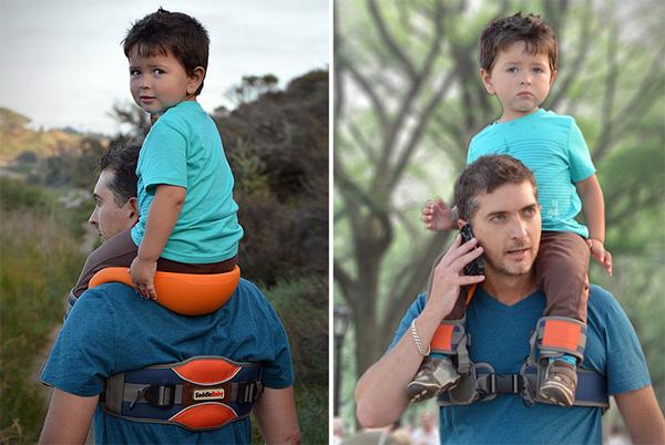 SaddleBaby: omdat kinderen op je schouders horen