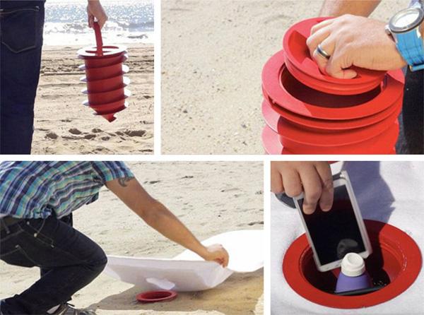 Beach Vault: verstop je spullen onder het zand