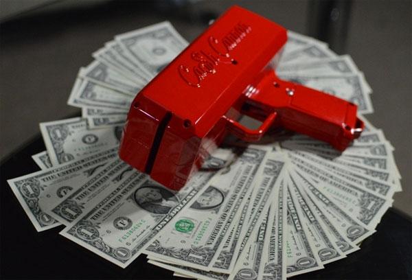 Het bizarre Cash Cannon laat je schieten met geld