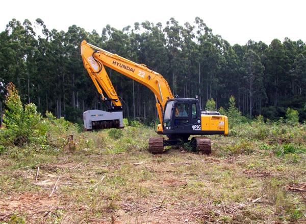 Deze machine laat bomen verdwijnen