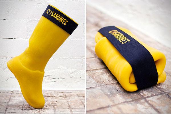 Sardines Rain Boots: opvouwbare regenlaarzen