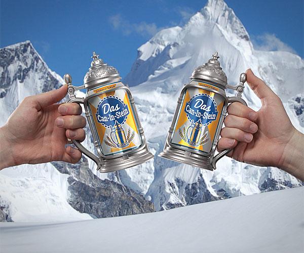 Met de Can-in-Stein drink je pils als een Duitser