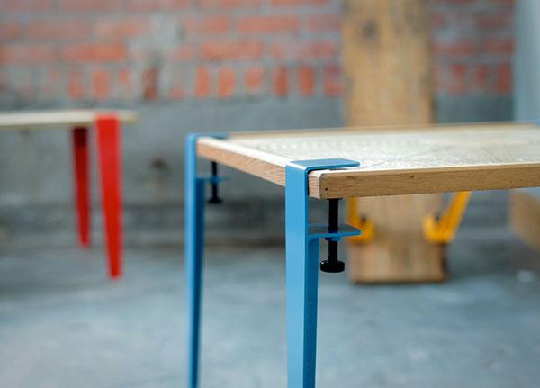 Floyd Leg: maak van ieder plat oppervlakte een tafel