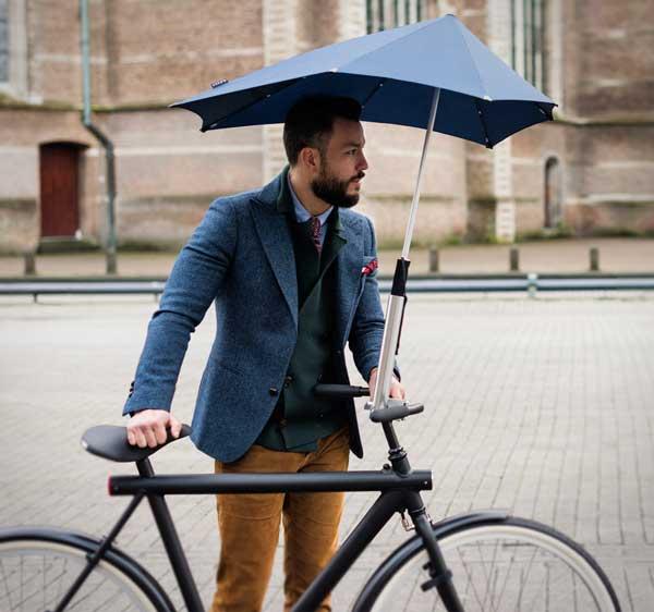 Eindelijk Droog Op De Fiets Met Senz Umbrella Holder