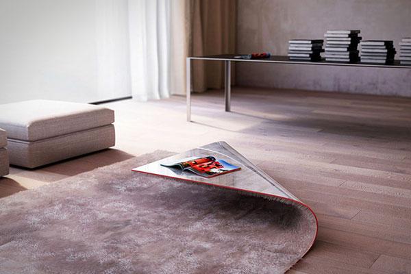 Stumble Upon: de wonderlijke combinatie van een tapijt en een tafel