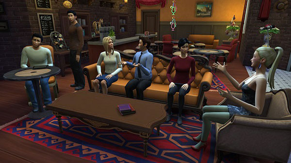 Enthousiasteling maakt Friends na in The Sims 4
