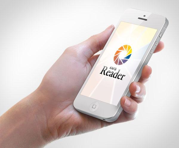 De KNFB Reader app maakt het voor blinden mogelijk om te lezen