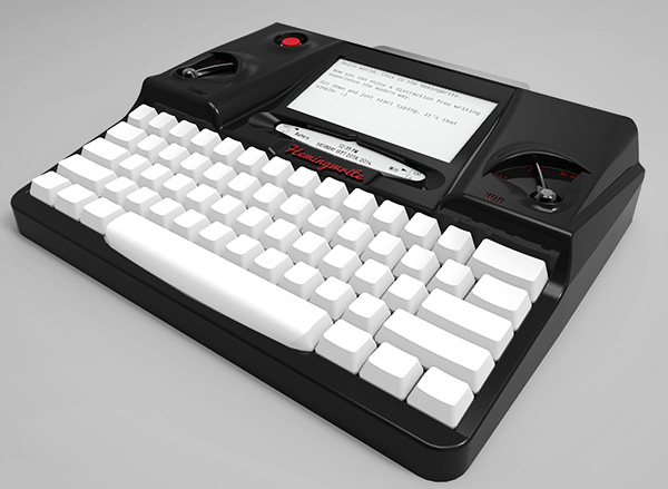 De Hemingwrite typemachine is ideaal voor hipsters