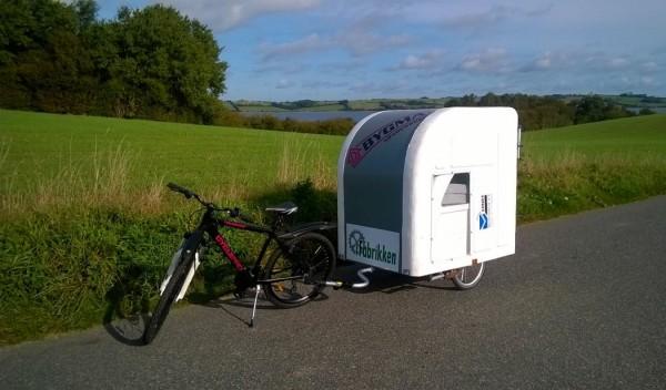 Wide Path Camper: een tweepersoons caravan voor achter je fiets