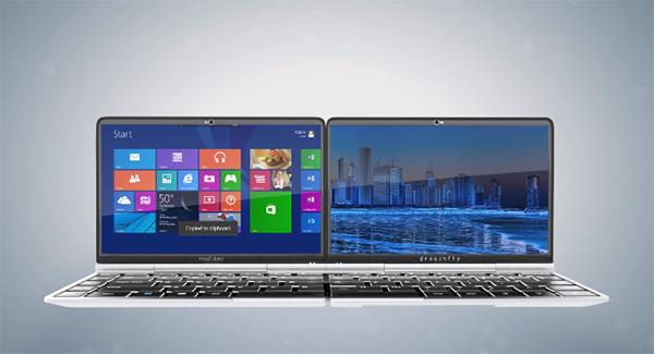 Dragonfly: de combinatie van een laptop, tablet en smartphone