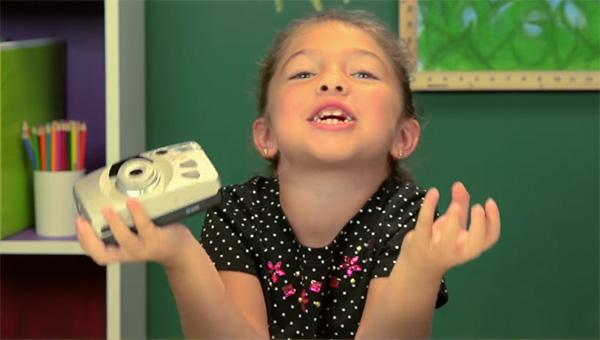 Kinderen van nu vinden camera's van vroeger maar belachelijk