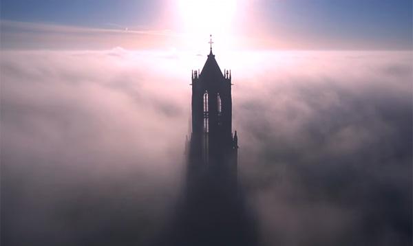 De Utrechtse Domtoren op zijn mooist