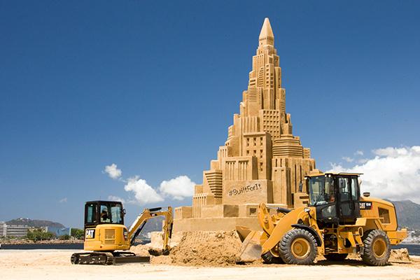 Het grootste zandkasteel ter wereld