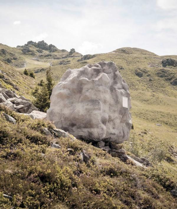Dit is geen rots, maar een knap ontworpen mini-huisje