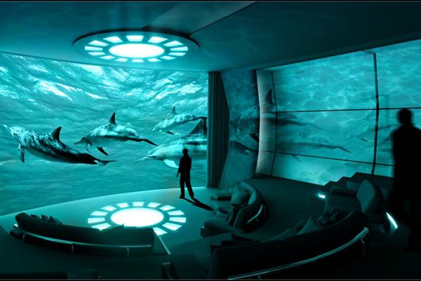 Echte superjachten hebben een onderwater IMAX-bioscoop