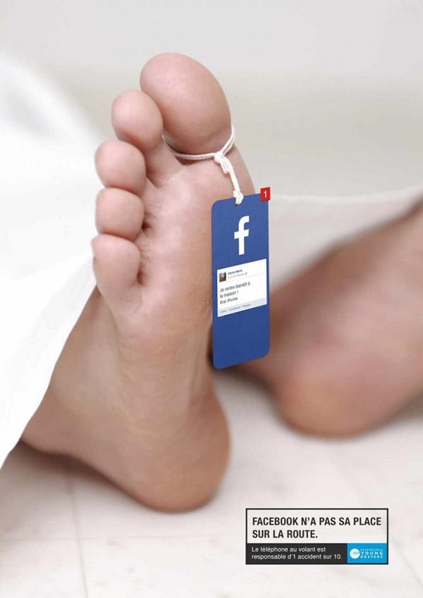 Treffende campagne: gebruik geen social media in het verkeer