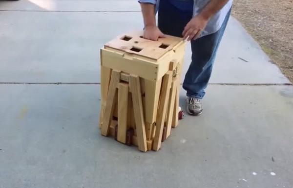 Handige Inklapbare Tafel : Houtwerk op zijn best een intrigerende opvouwbare tafel