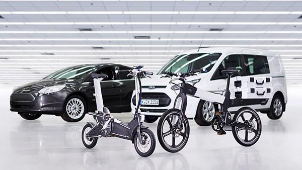 De high-tech fietsen van Ford maken je fietsrit veiliger