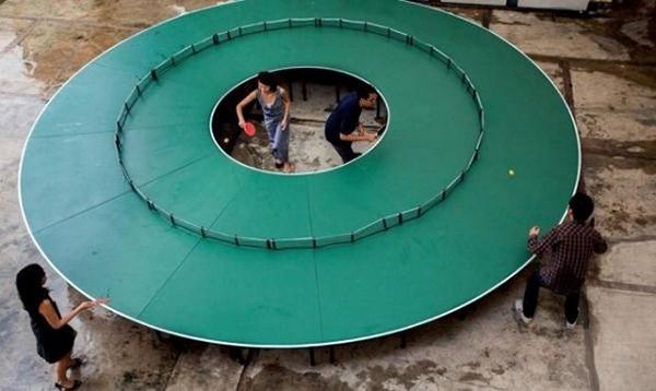 Ping-Pong Go Round: de ultieme tafeltennistafel