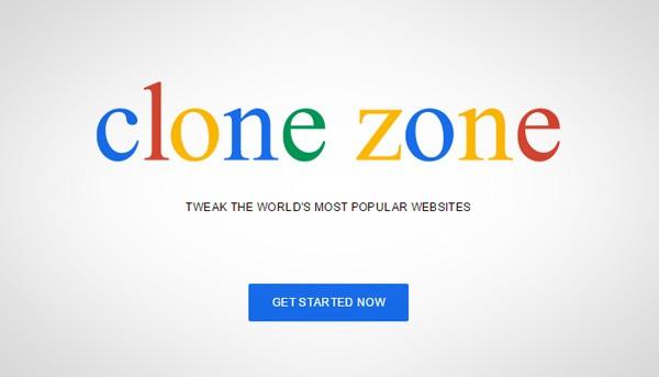 Met Clone Zone maak je hilarische kopieën van populaire websites