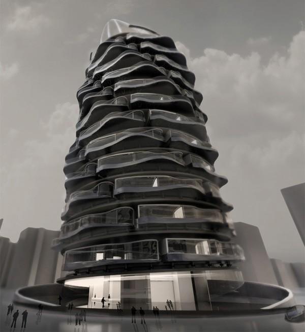 In dit innovatieve gebouw heeft iedereen om de beurt het beste uitzicht