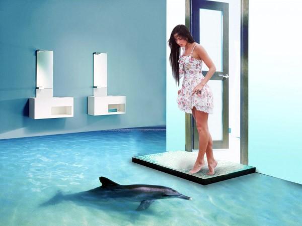 De wonderlijke driedimensionale badkamervloeren van Imperial