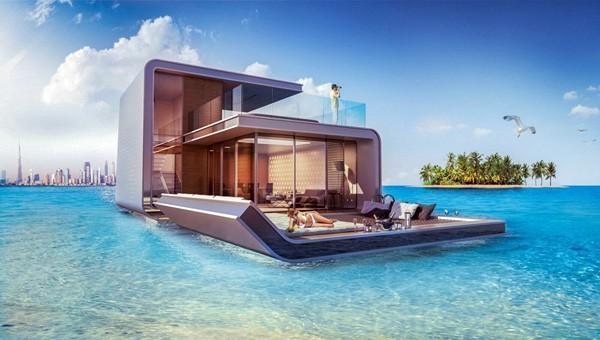 In Dubai bouwt men woningen met een onderwaterslaapkamer
