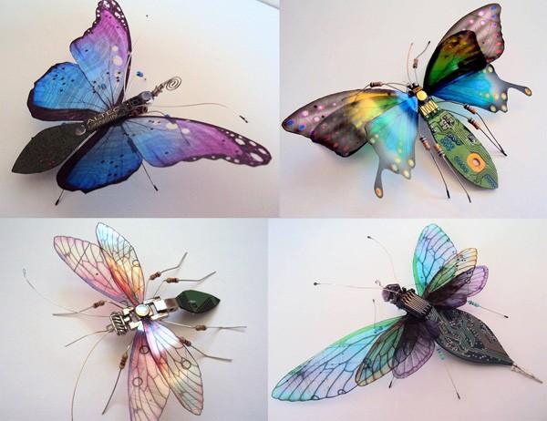 Schitterend: insecten gemaakt van oude computeronderdelen