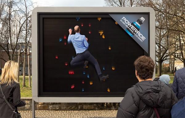 Reclame als workout: de slimme billboards van Powerade