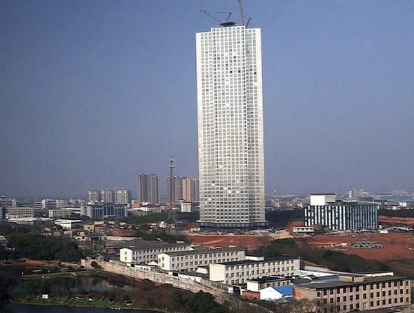 Alleen in China: een flatgebouw met 57 verdiepingen bouwen in 19 dagen