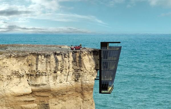 Cliff House: een woning voor mensen zonder hoogtevrees