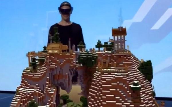 Minecraft met een Microsoft Hololens ziet er verbluffend uit