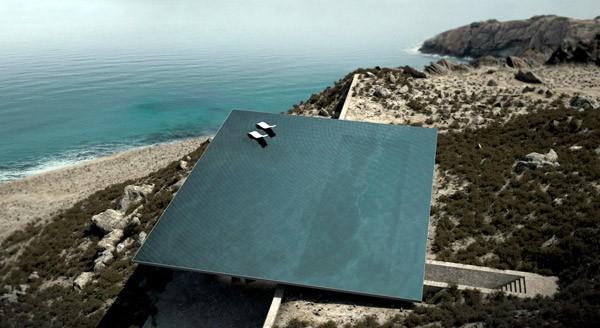 Mirage: een vakantiehuis met een zwembad als dak