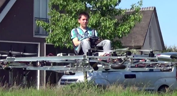 De vliegende Hollander: Thorstin Crijns bouwt een drone die personen vervoert