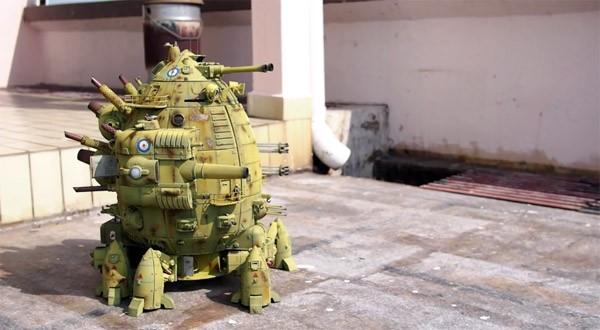 Topspeelgoed: een mechanische, lopende tank uit de 3D-printer