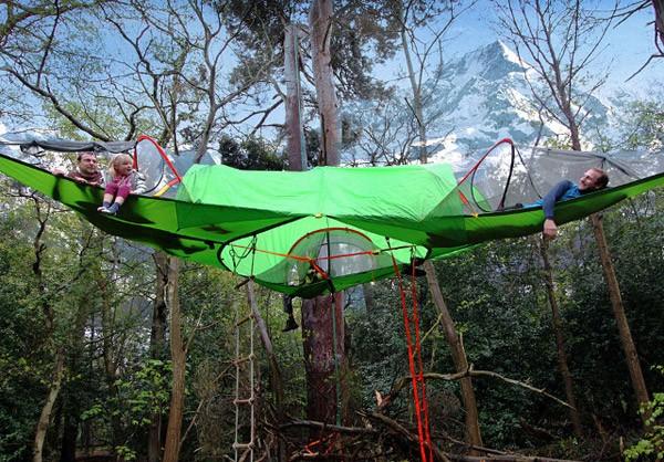 Tentsile Trilogy: de tent die je hoog boven de grond laat kamperen