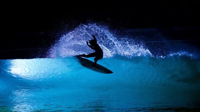 Ik Wil Het S Nachts Surfen Met Verlichte Golven
