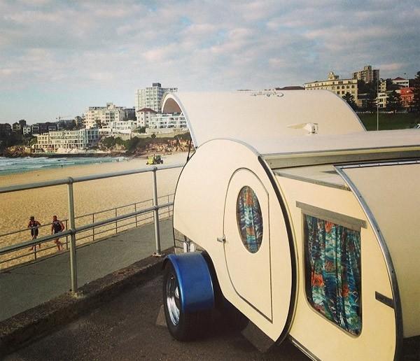 Gidget: een uitschuifbare mini-caravan