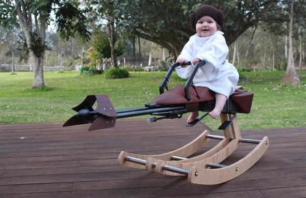 Briljant: een wipstoel voor Star Wars baby's