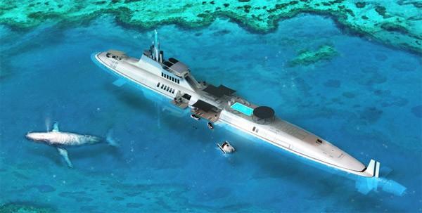 Migaloo: een hyperluxe onderzeeër met zwembad