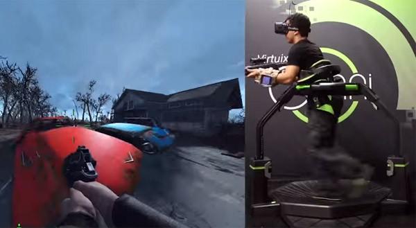 Fallout 4 met de Oculus Rift en een Virtuix Omni