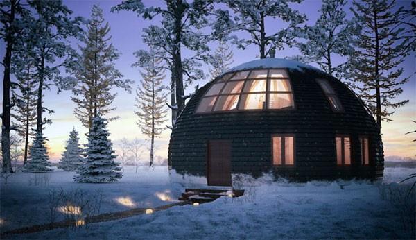 Skydome: een koepelwoning waarin je direct je intrek wilt nemen