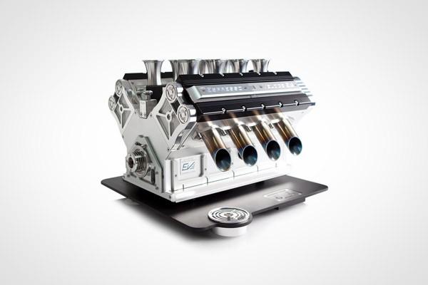 Espresso Veloce: een espressoapparaat met het uiterlijk van een V8-motor