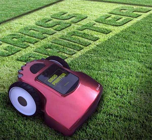 Grass Printer: maai je naam in het gras
