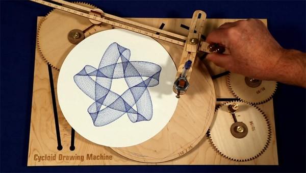 Cycloid Drawing Machine: een geavanceerde spirograaf