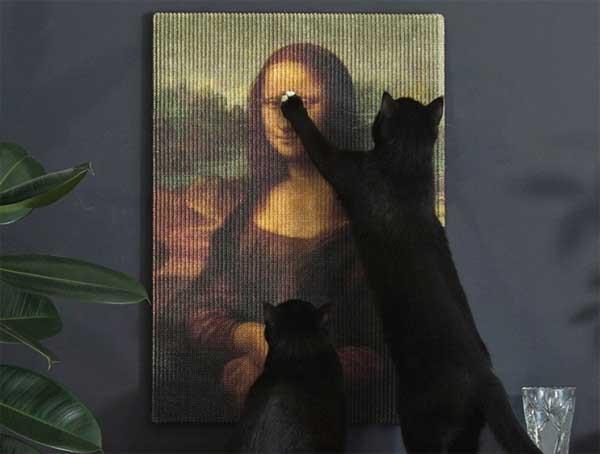 Copycat Art Scratchers: schilderijen als krabpaal